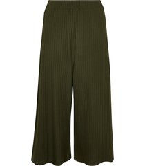 river island womens plus khaki belted ribbed culottes