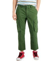 sun + stone men's vlad regular-fit cropped cargo pants, created for macy's