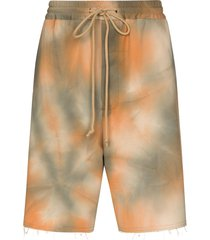 song for the mute tie-dyed bermuda shorts - neutrals