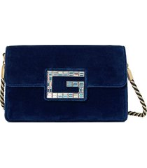 gucci blue shoulder bag with square g
