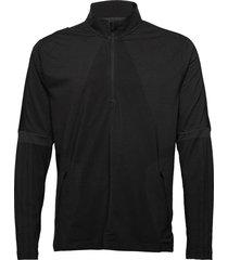 sport wrpkn 1/4 outerwear sport jackets zwart adidas performance