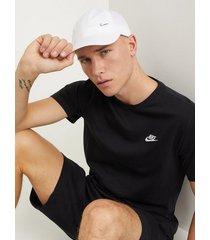 nike sportswear m nsw club tee t-shirts & linnen black