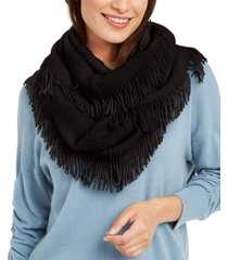 inc raschel-knit loop scarf with fringe, created for macy's