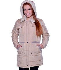 casaco sobretudo carbella carbella frio extremo bege