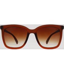 óculos de sol quadrado unissex ace marrom
