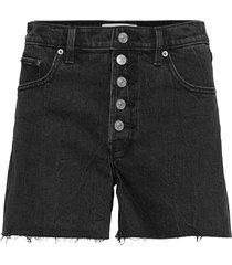 shorts shorts denim shorts svart abercrombie & fitch