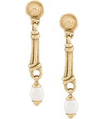goossens short graine de gemmes earrings - gold