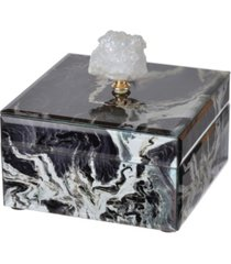 bethany black marbled jewelry case, small