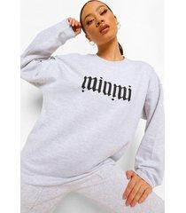 gothic sweater met tekst en opdruk, pale grey