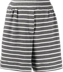 brunello cucinelli striped jersey shorts - grey
