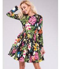 sukienka black lila