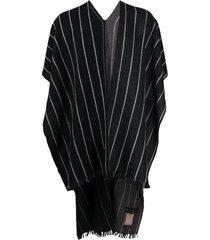ziggy chen long cape scarf - black