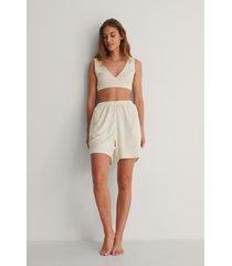 na-kd reborn ekologiska shorts - offwhite