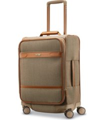 hartmann herringbone dlx domestic carry-on expandable spinner suitcase