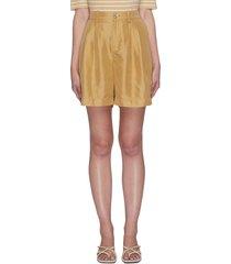 high waist silk shorts