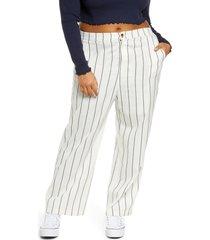 plus size women's bp. straight leg pants, size 3x - ivory
