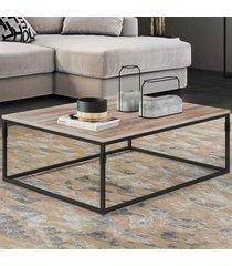 mesa de centro aline carvalho/preto - novabras