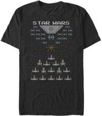 fifth sun men's star wars pixel fight in space 8-bit short sleeve t-shirt
