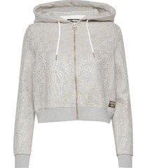 ace metallic ziphood hoodie trui grijs superdry