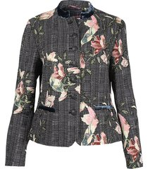 white label blazer 731413/7269 zwart