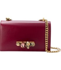 alexander mcqueen knuckle duster shoulder bag - red