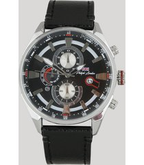 relógio cronógrafo philiph london masculino - pl80076612m preto