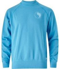 sweatshirt med litet tryck fram