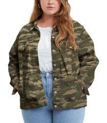 levi's trendy plus size ex-boyfriend trucker jacket