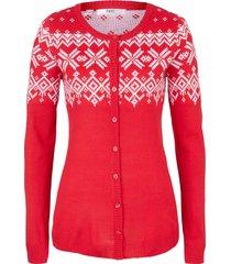 cardigan (rosso) - bpc bonprix collection