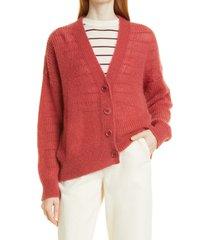 women's boss fiviama cardigan, size medium - red