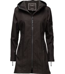 hip-length softshell raincoat outerwear rainwear rain coats svart ilse jacobsen