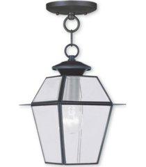 livex westover 1-light outdoor chain lantern