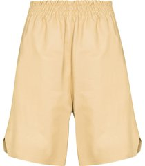 bottega veneta leather bermuda shorts - neutrals