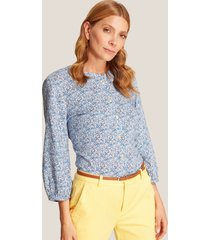 blusa azul floral xxl
