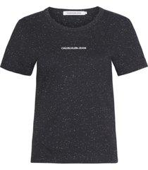camiseta manga corta naps slim t-shirt negro calvin klein