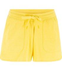 shorts in felpa con coulisse (giallo) - bpc bonprix collection