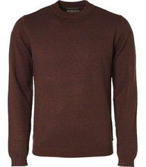 no excess pullover high crewneck 2 color rusty