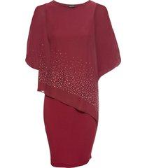 abito di jersey con paillettes (rosso) - bodyflirt