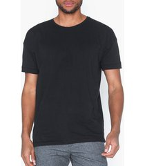 selected homme slhemil ss o-neck tee b t-shirts & linnen svart