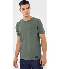 camiseta polo wear bolso verde - verde - masculino - algodã£o - dafiti