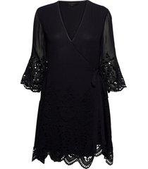 zariah ls dress kort klänning svart allsaints
