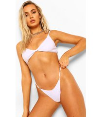 essentials geknoopte driehoek bikini top, wit