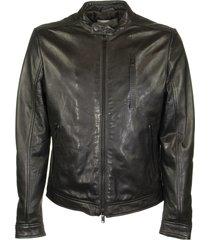 dondup leather biker jacket