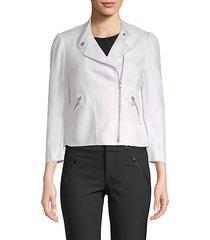 long-sleeve frayed jacket