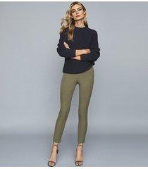 reiss tyne - skinny trousers in khaki, womens, size 12l
