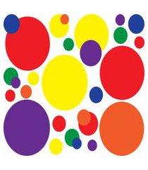 adesivo de parede quartinhos bolas amarelo/laranja