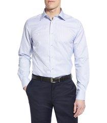 men's david donahue luxury non-iron trim fit check dress shirt
