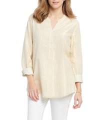 women's nic+zoe honeybee shirt, size x-large - metallic