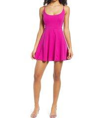 women's jump apparel scoop back sleeveless skater dress, size 11/12 - pink