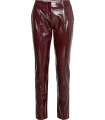 2nd dean leather leggings/broek rood 2ndday